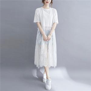 新款夏季拼接連衣裙